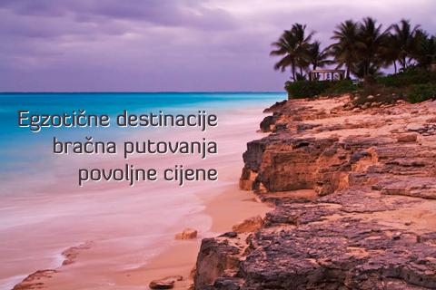 egzotične destinacije za bračna putovanja, povoljne cijene, avionske karte, hotelski smještaj